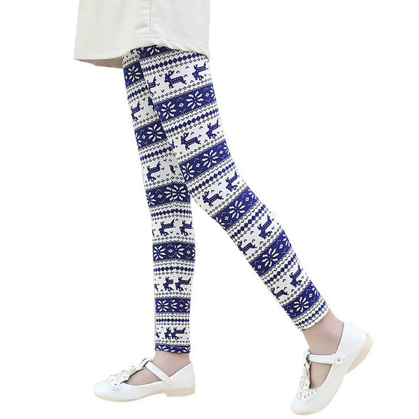 Girls Christmas Print Leggings