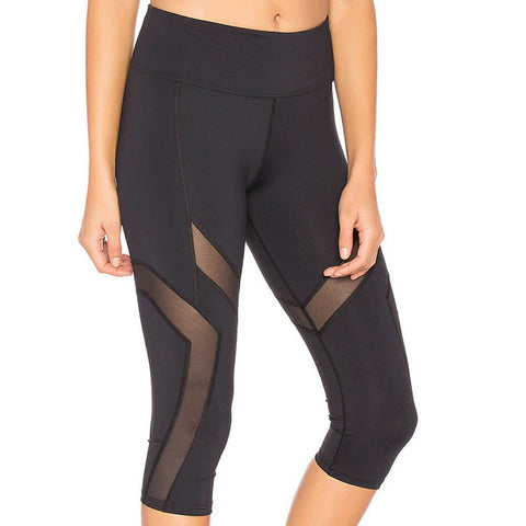 Breathable Yoga Mesh Capri