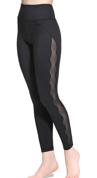 Women's High Waist Mesh Fitness Leggings