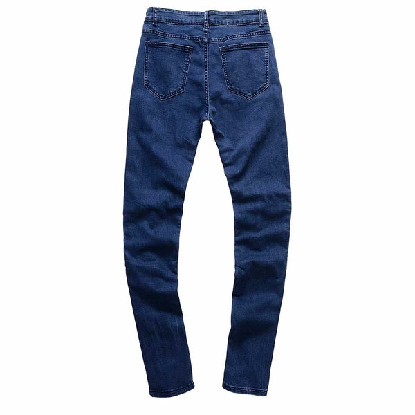 Men's Ripped Slim Fit Motorcycle Vintage Denim Jeans