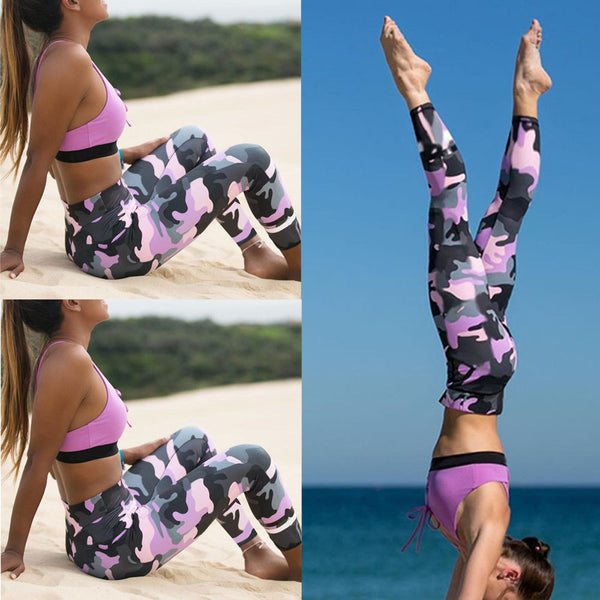 Women's Camouflage Workout Athletic Pants