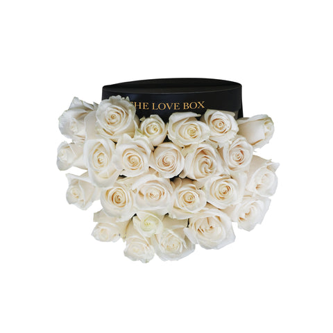Cream Roses in Medium Box