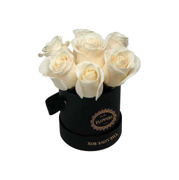 Yellow Roses in Large White Box - The Love Box Flowers