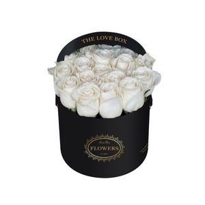 White Roses in Medium Box