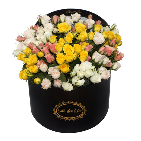Miniature Roses Mix in Large Box - The Love Box Flowers