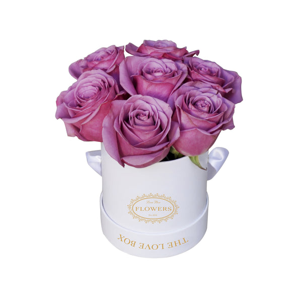 Violet Roses in Mini Box
