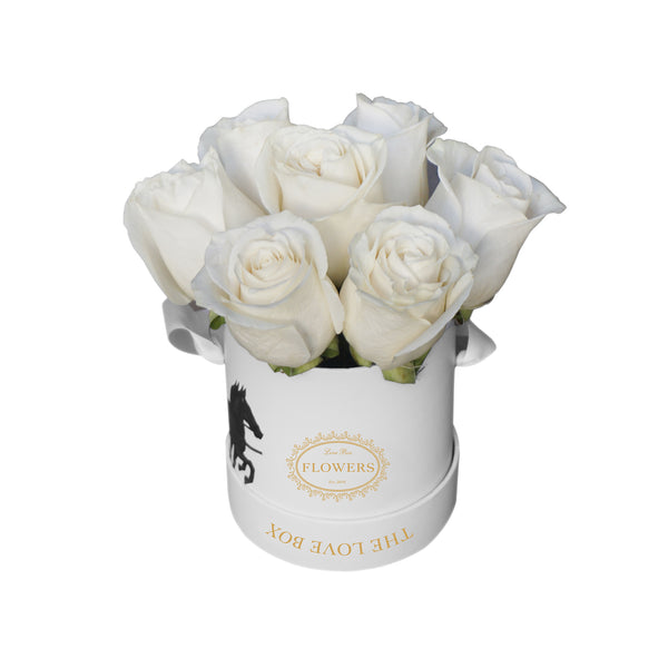 Cream Roses in Illustrated Mini Box