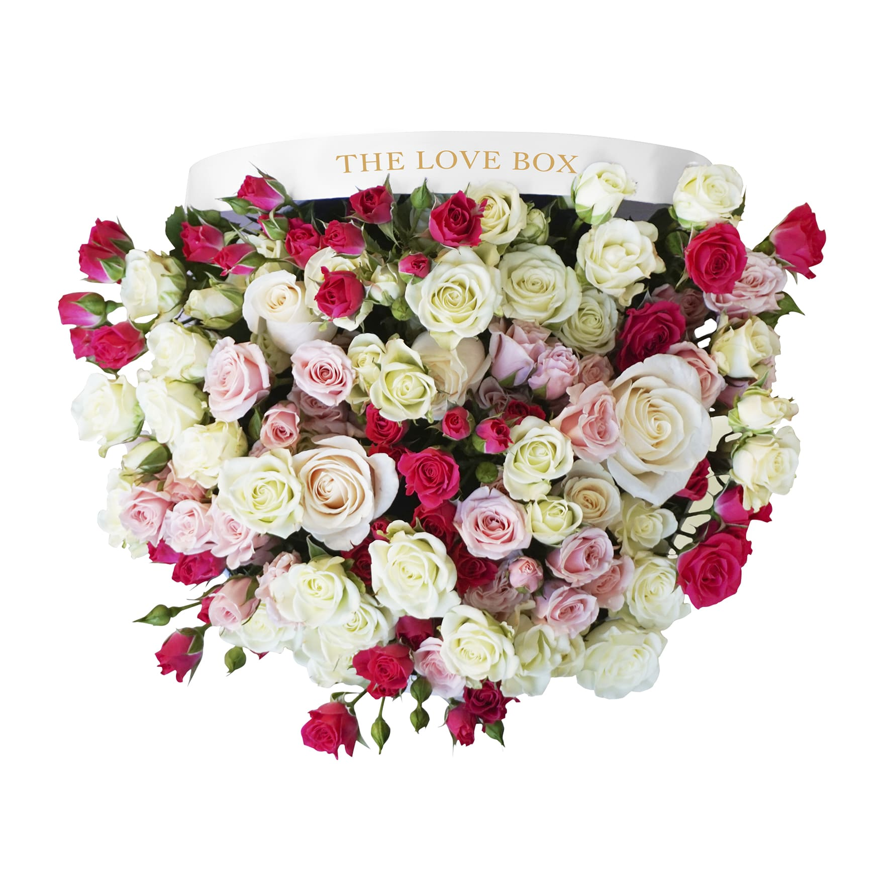 Miniature Rose Arrangement in Large Box