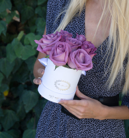 Lavender Roses in Mini Box - The Love Box Flowers