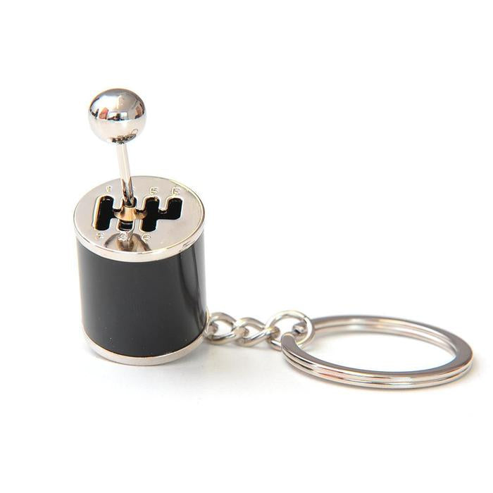 black gear shift keychain