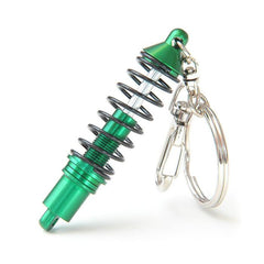Green Coilover Keychain