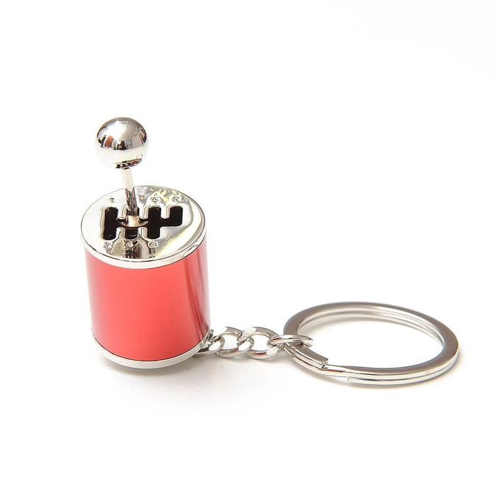 red gear shift keychain