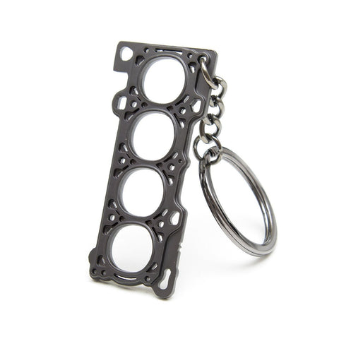 head gasket keychain standing up