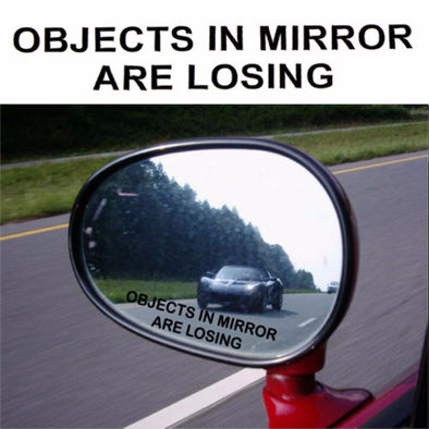 Objects in Mirror are Losing Sticker (3pcs)