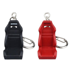 red and black bucket seat keychain