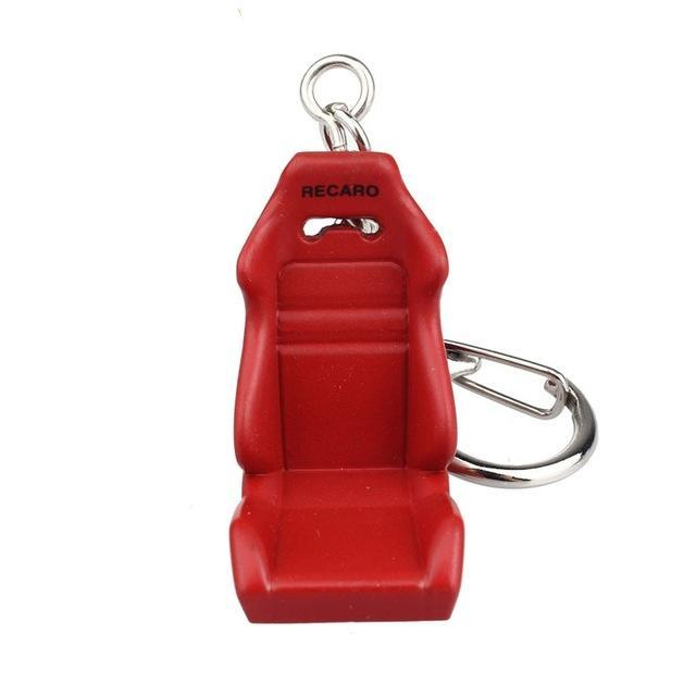 red bucket seat keychain