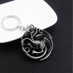 House Targaryen Keychain - Three Headed Dragons