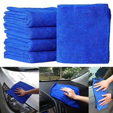 Plush Microfiber Detailing Towels (5-Pack)