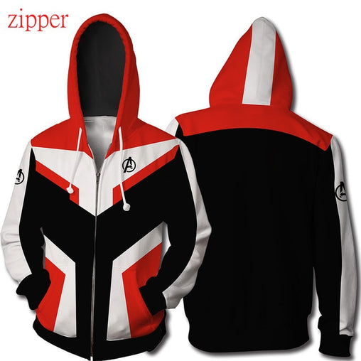 Avengers Endgame Quantum Realm - Zipper Hoodie Red