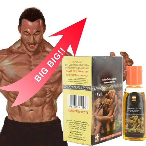 Indian God Oil Herbal Men Enlargement Oil 15ml Massage Cream Big Dick