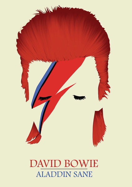 "Poster ""Aladdin Sane"" (Digital) - 70% OFF"
