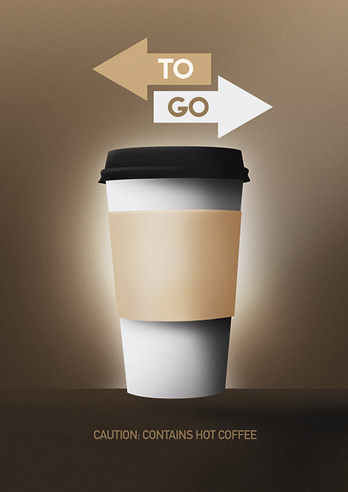"Poster ""Coffee To Go"" (Digital)"
