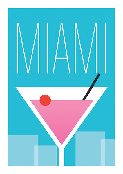 "Poster ""Drink in Miami"" (Digital) - 70% OFF"