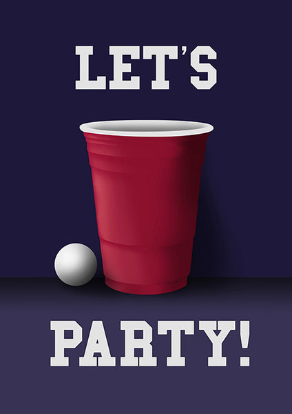"Poster ""Let's Party"" (Digital)"