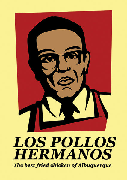 Poster Digital Série, Breaking Bad, Heisenberg, Pinkman, Los Pollos Hermanos.