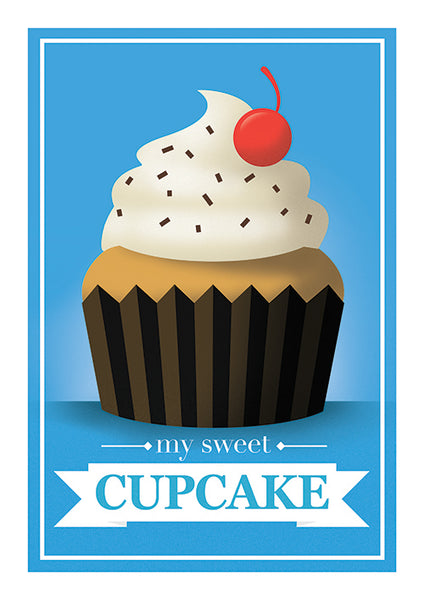 "Poster ""My Cupcake"" (Digital)"