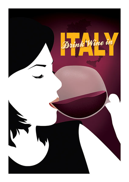 "Poster ""Wine in Italy"" (Digital)"