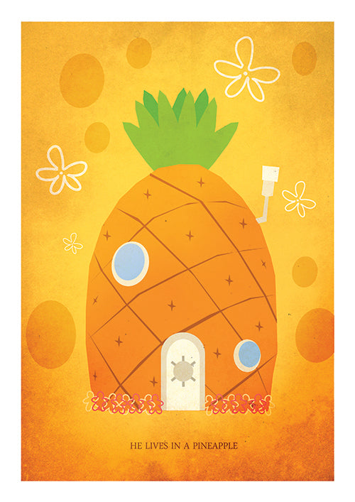 "Poster ""Pineapple"" (Digital) - 70% OFF"