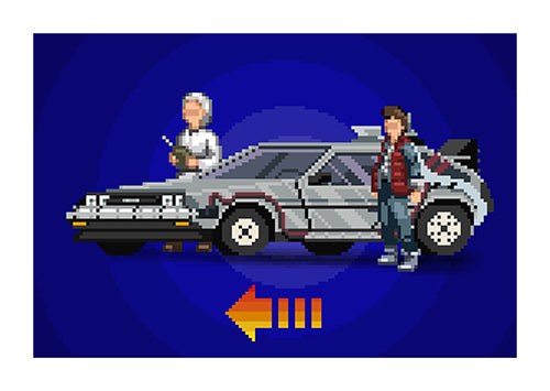 "Poster ""Back to the Future"" (Digital) - 70% OFF"