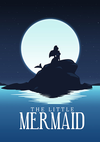 Poster quadro Pequena Sereia, The Little Mermaid, Disney.