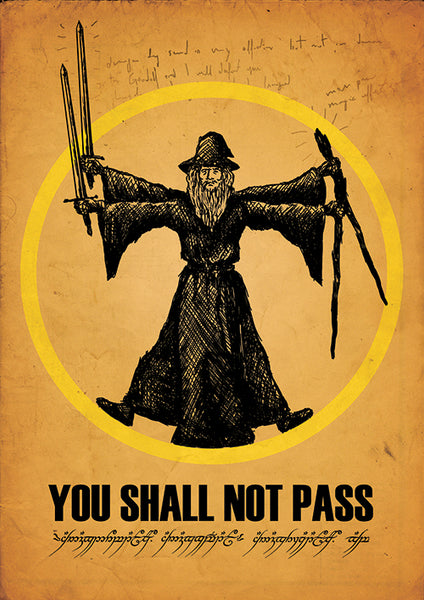 "Poster ""You Shall Not Pass"" (Digital) - 70% OFF"