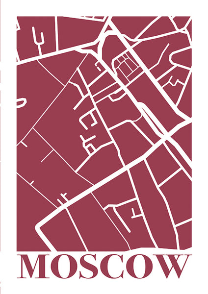 "Poster ""Mapa Moscow"" (Digital) - 70% OFF"