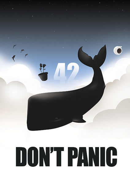 "Poster ""Don't Panic"" (Digital) - 70% OFF"