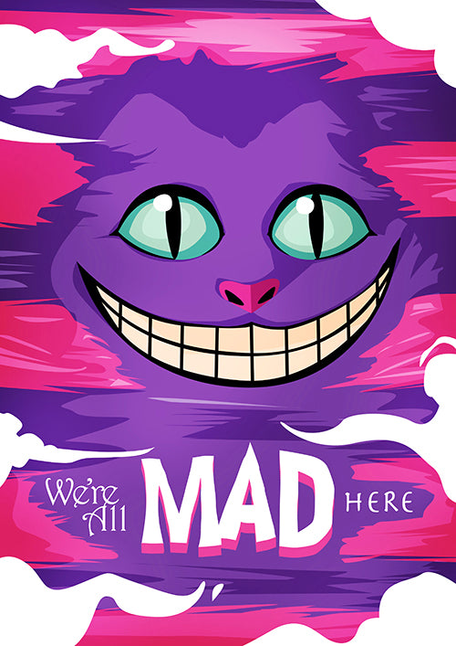 "Poster ""Gato de Cheshire"" (Digital) - 70% OFF"