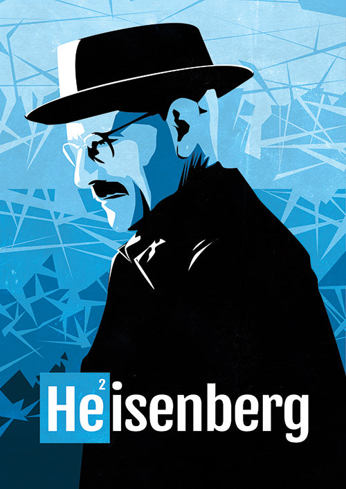 Poster Digital Série, Breaking Bad, Heisenberg, Pinkman.