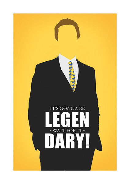 Poster Digital Legendary Série, HIMYM, Robin, How I Met Your Mother, Barney, Ted, Lily.