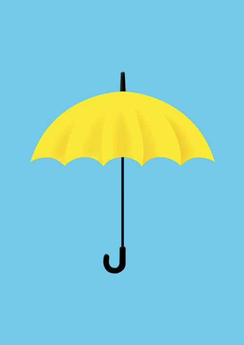 Yellow Umbrella Poster Digital