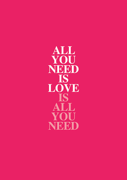 "Poster ""All You Need is Love"" (Digital)"