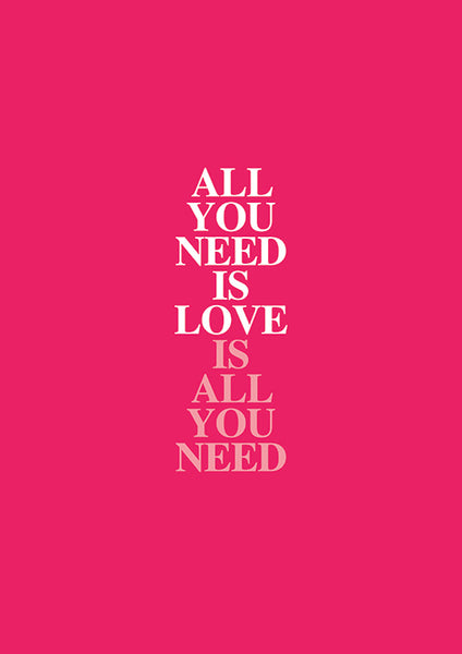 "Poster ""All You Need is Love"" (Digital) - 70% OFF"
