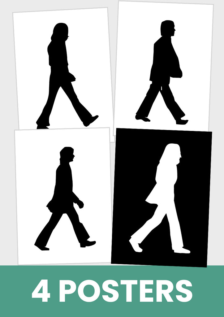 Poster Abbey Road The Beatles, Abbey Road, John, Paul, Ringo, George.