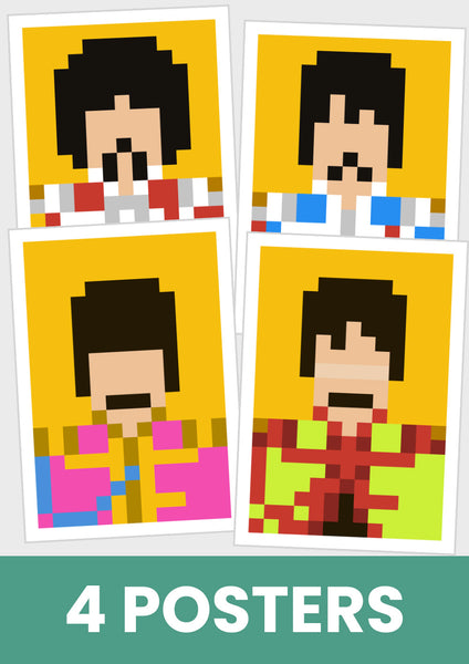 The Beatles, Sgt Pepper's, John, Paul, Ringo, George.