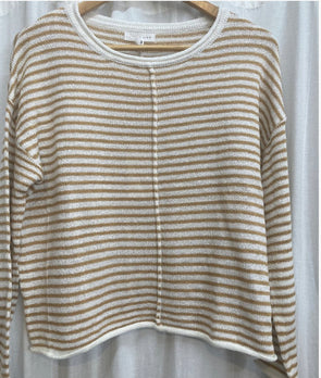 Stripy Days Knit Mustard
