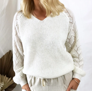 Little Lies Francesca Knit White