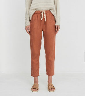 Linen Pants Terracotta Little Lies