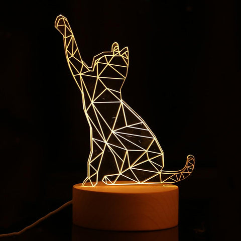 geometric cat lamp - desk mess