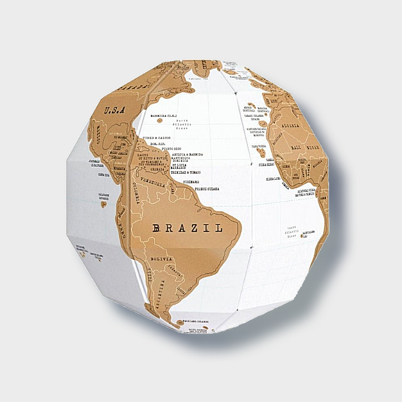 DIY 3D Scratch Globe - Desk Mess